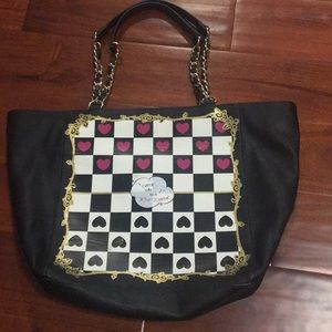 Betsey Johnson Checkerboard Tote